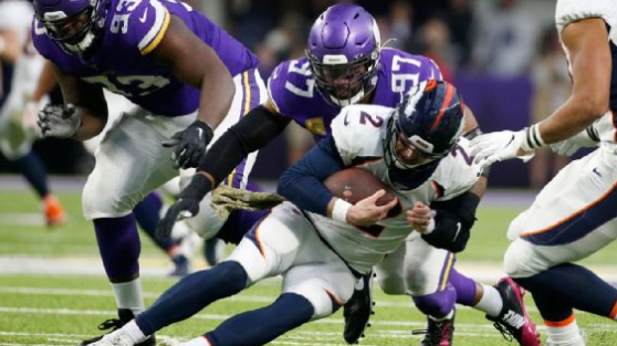 Everson Griffen is second on the Vikings with seven sacks and has 73.5 in 10 NFL seasons. Bruce Kluckhohn/AP Photo